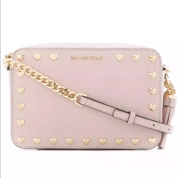a2e8de6804a2 Michael Kors Ginny Medium Camera Bag Soft Pink